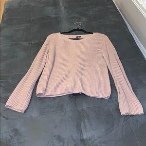 Light pink tie back sweater